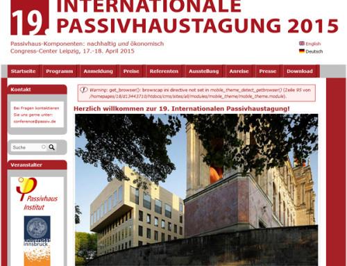 19. Passivhaustagung Leipzig