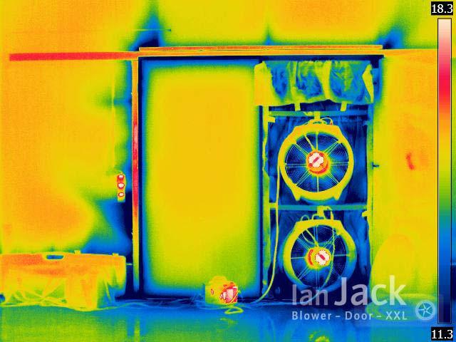 Blower Door Test Wärmebild
