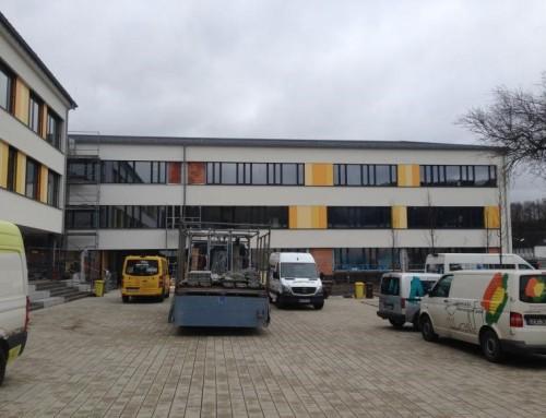 Gymnasium in Engelskirchen, 4 große Messungen auf einen Streich!!